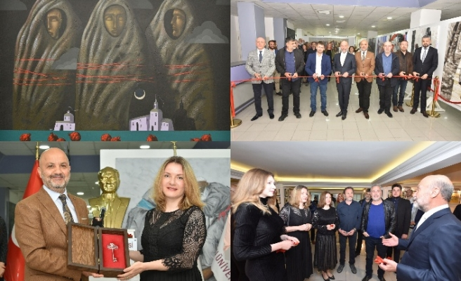 Kıbrıs Modern Sanat Müzesinde Ukraynalı sanatçıların sergisi açıldı