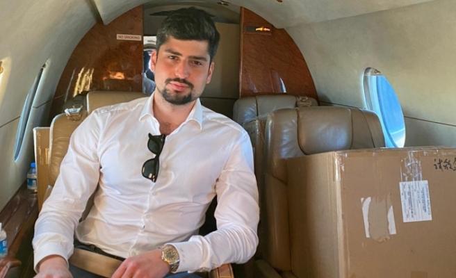 Besim Tibuk'un oğlu Murat Tibuk 6 bin adet test kitini özel uçakla adaya getirdi