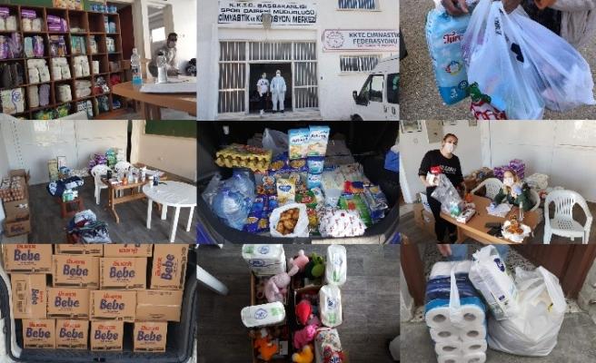 Cimnastik Federasyonu, ihtiyaçlı ailelere gıda yardımında bulundu