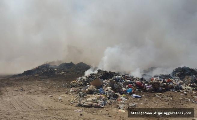 İskele'de çöplük yangını