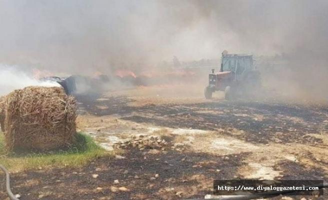 Turunçlu - Aslanköy arasında yangın