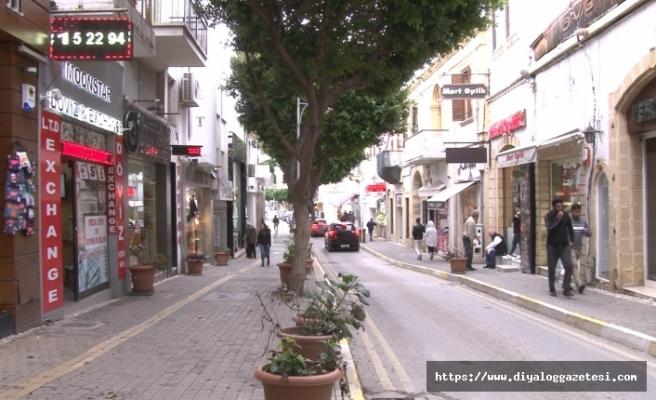 Girne'de Çarşı kurudu