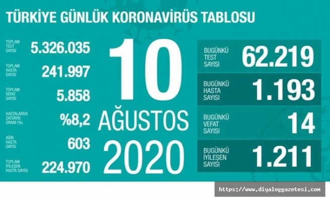 Türkiye'de can kaybı 5 bin 858