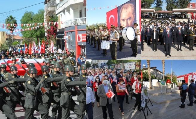 Cumhuriyet Bayramı'nın 97'nci yıl dönümü kapsamında yürüyüş düzenlendi