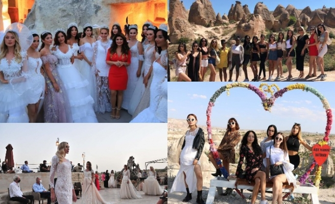 Dünyanın çeşitli ülkelerinden gelen modeller, Kapadokya'da boy gösterdi