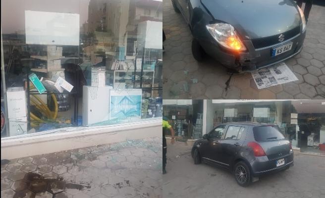 Lefkoşa'da ilginç kaza