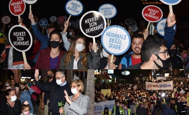 'Demokrasi ve irade' yürüyüşü