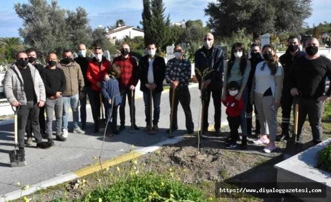 Girne Belediyesi, Karaoğlanoğlu Mezarlığı'na 100 fidan dikti