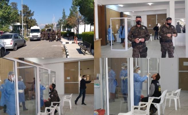 Polis mensuplarına PCR testi yapıldı