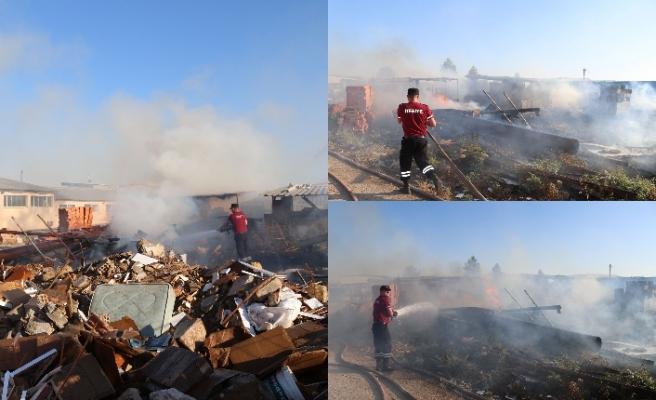 Sanayi bölgesinde yangın riski yüksek