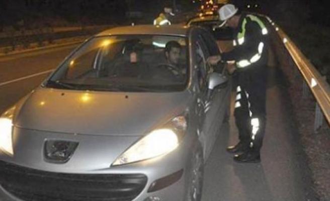 620 sürücüye ceza yazıldı