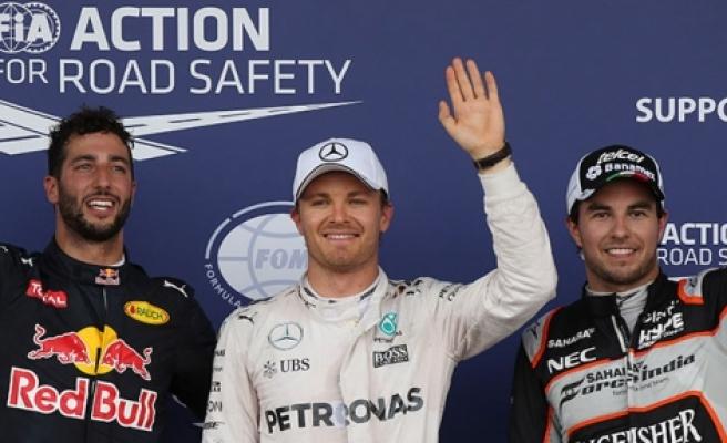 Bakü'de ilk cep Rosberg'in