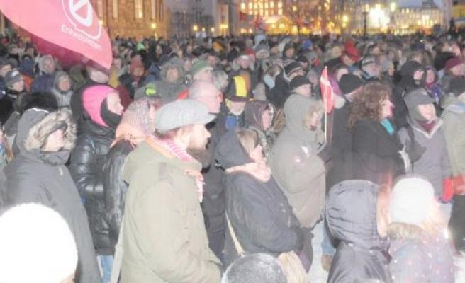 Danimarka'da özelleştirilme protestosu