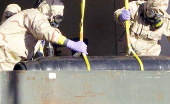 Libya'da kimyasallar imha edildi