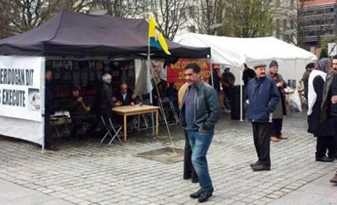 PKK çadırı yeniden kuruldu
