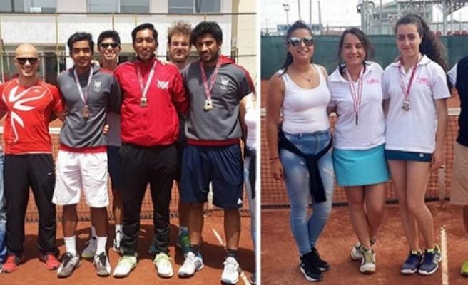 Teniste şampiyon GAÜ ve YDÜ