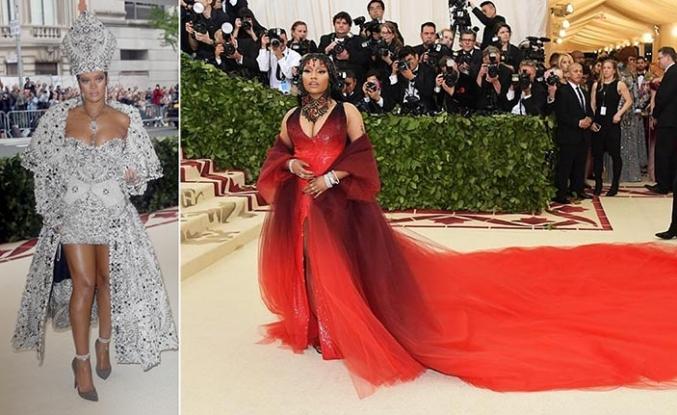 Met Gala'ya dinsel ikonik kıyafetler damga vurdu