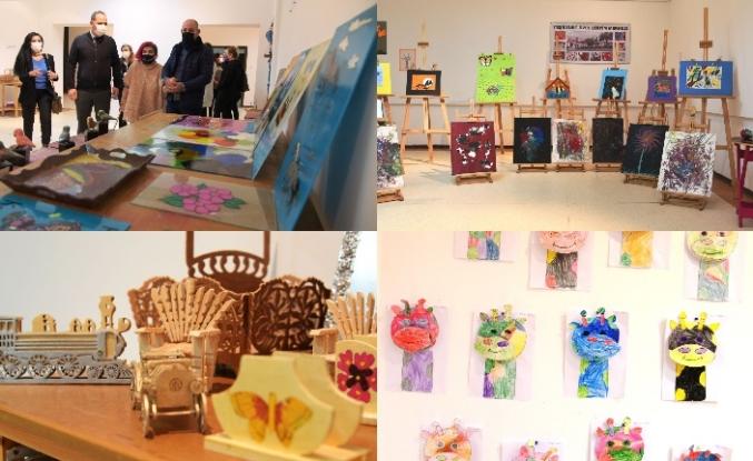 Özel eğitim merkezlerinde eğitim gören bireylerin sanatsal çalışmaları sergilendi