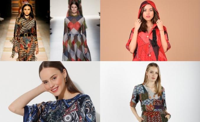 Patchwork desen yeniden trend moda olarak karşımıza çıkıyor