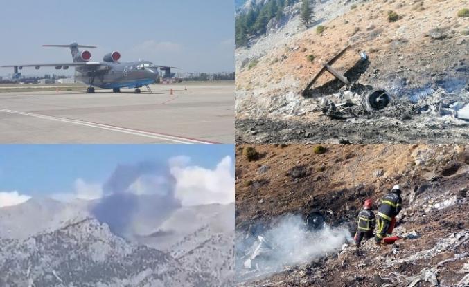 Yangın uçağından üzücü haber