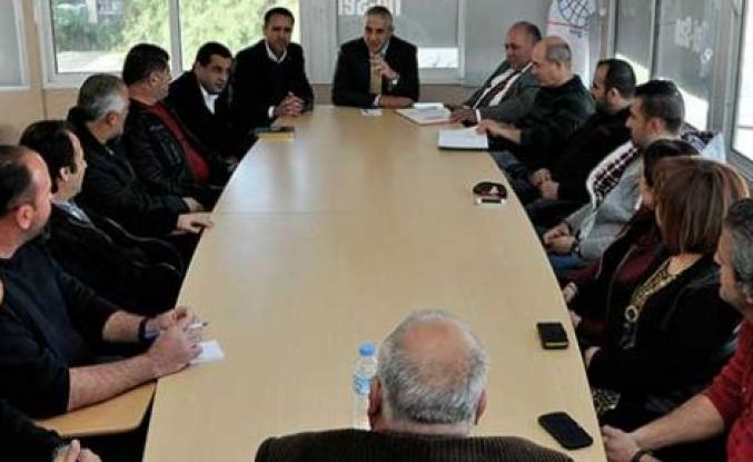 Bayındırlık ve Ulaştırma Bakanı Hasan Taçoy, Tel-Sen'i ziyaret etti