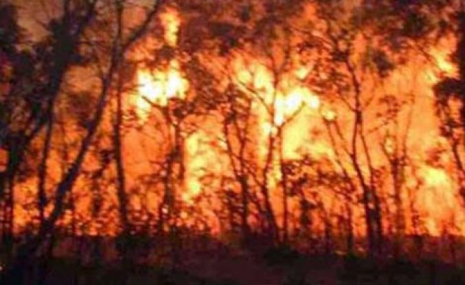 Kapalı Maraş'ta büyük yangın...