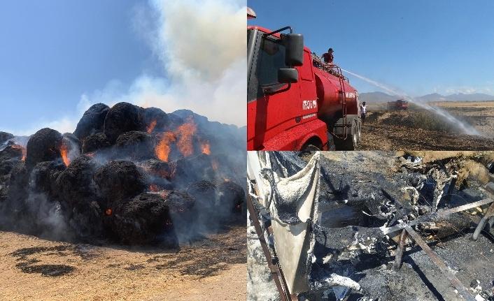 Lefkoşa'da ve Paşaköy'de yangın